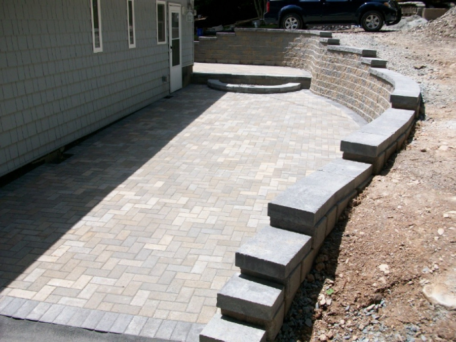 Patio Pavers and Wall
