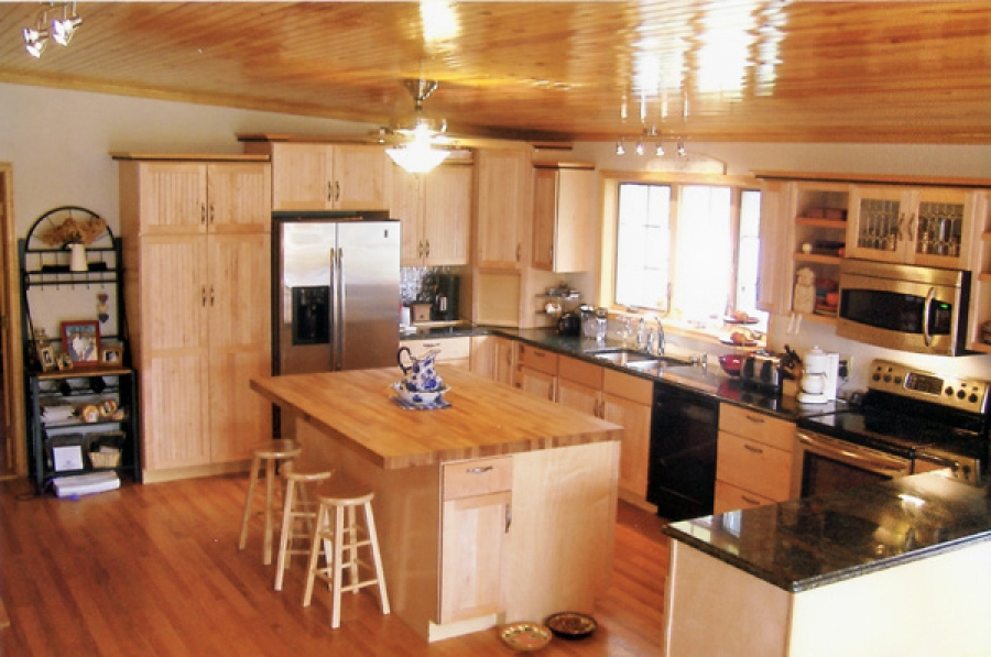 Kitchen with pine accents