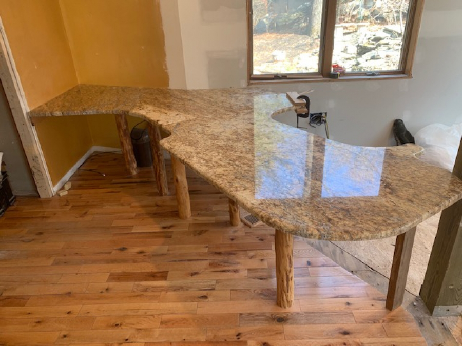 Old granite transforms into masterpiece